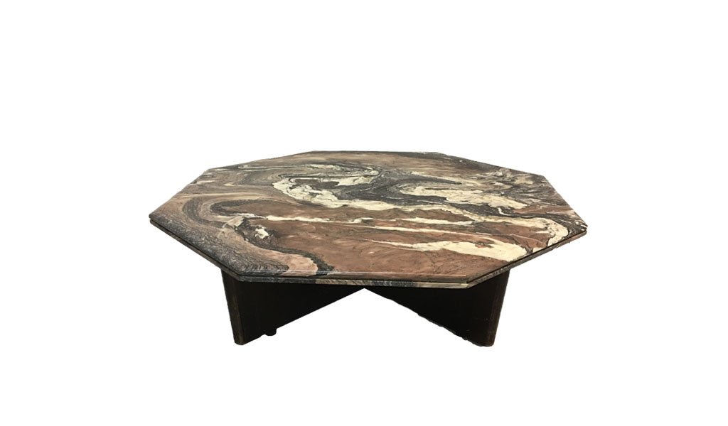 HEXAGON SHAPED MARBLE COFFEE TABLE Caren Pardovitch Interior Design - Hexagon marble coffee table